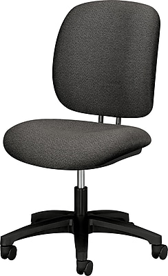 HON ComfortTask® 5900 Series Armless Task Chair, Gray, Fabric Seat, 38 1/4