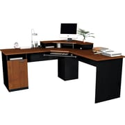Bestar Hampton Collection Corner Workstation, Tuscany & Black