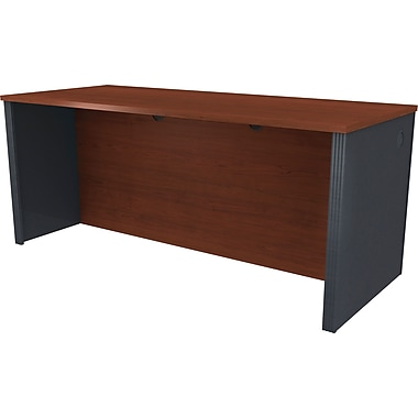 Bestar - Bureau de direction de la collection Prestige +, 72 po, fini Bordeaux et graphite