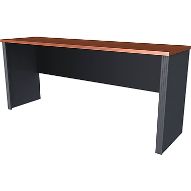 Bestar Prestige + Collection Credenza, Bordeaux & Graphite