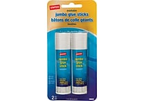 Staples Jumbo Glue Sticks, 2/Pack (39525)