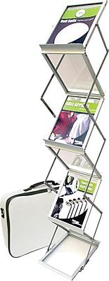 Deflecto Portable Floor Stand, Aluminum, Silver, 15 3/4