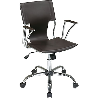 Office Star - Collection de fauteuils de bureau Dorado, fini espresso