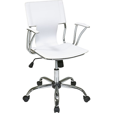 Office Star - Fauteuils de bureau de la collection Dorado, blanc