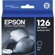 Epson® 126 Black Ink Cartridge, High-Yield (T126120)