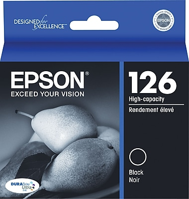 Epson 126 Black Ink Cartridge (T126120), High Yield