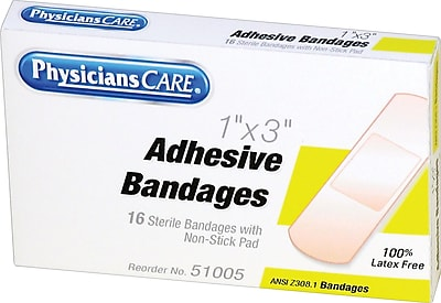 PhysiciansCare® First Aid Refill Plastic Bandages, 1