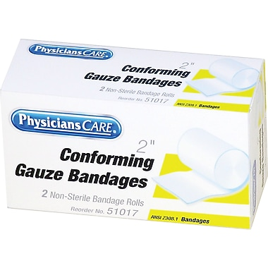 First Aid Only® First Aid Conforming Gauze Bandages, 2