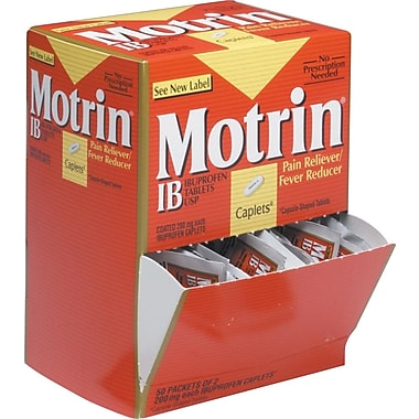 MOTRIN Pain Relief, Ibuprofen Tablets, 50/Pack, (Model:48152)