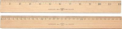 Westcott® Metric Ruler with Metal Edge, 12