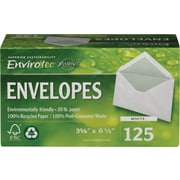 Staples® Sustainable Earth Recycled Business Envelopes, 125/Box