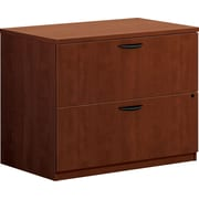 "basyx by HON® BL Series 2 Drawer Lateral File Cabinet, Medium Cherry, 35.5""W (HBL2171A1A1)"