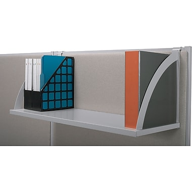 basyx by HON Verse Cubicle Shelf, Gray/Silver, Each (MXNVSH60GYGY)