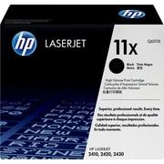 HP 11X Black Toner Cartridge (Q6511X), High Yield
