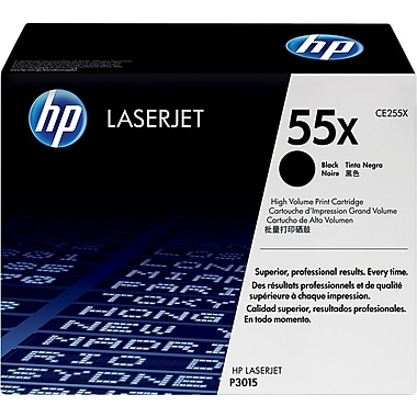 HP 55X (CE255X) Black High Yield Original LaserJet Toner Cartridge