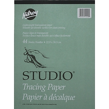 Sketching drafting art paper big paper for big projects staples hilroy studio parchment tracing paper pad 9 x 12 malvernweather Image collections