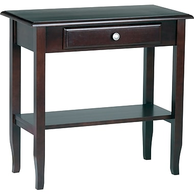Office Star Foyer Table With Drawer & Shelf, Merlot
