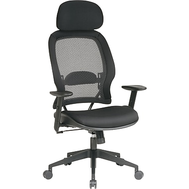 Office Star Air Grid Mesh Manager's Chair, Black
