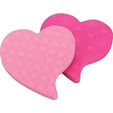 Post-it® Super Sticky Notes, Fun Shapes, Heart, 3