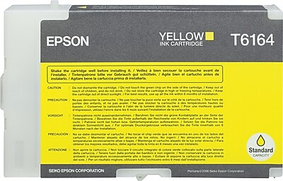 Epson T6164 Yellow Ink Cartridge (T616400)