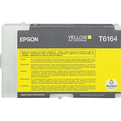 epson t6164 yellow ink cartridge t616400 staples. Black Bedroom Furniture Sets. Home Design Ideas