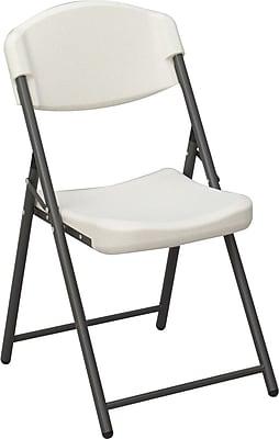 Iceberg Rough N Ready Folding Chair 4/Pack, Platinum