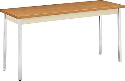 HON 60''Lx20''D Rectangular Utility Table, Hravest/Putty (HONUTM2060CLCHR)