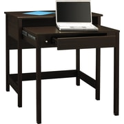 "Bush Furniture Brandywine Laptop Desk 34.64"" x 19.66"" x 33.46"" Retractable Secondary Desk surface Porter Finish"