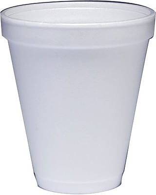 Dart Styrofoam Hot & Cold Cups, 12 Oz., White, 1,000/Ct 655332