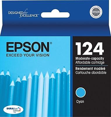 Epson 124 Cyan Ink Cartridge (T124220), Low Yield