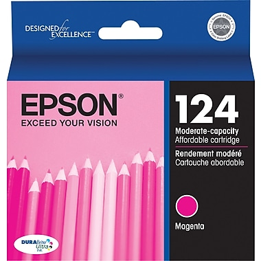 Epson 124 (T124320-S) Magenta Ink Cartridge