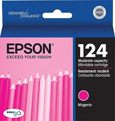 Epson 124 Magenta Ink Cartridge (T124320), Low Yield