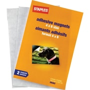"Staples® 4"" x 6"" Magnetic Sheets, 2-Pack"
