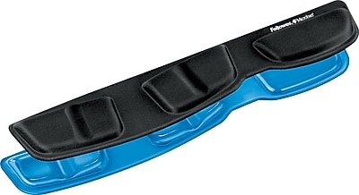 Fellowes Gel Keyboard Palm Support with Microban, Blue (9183101)