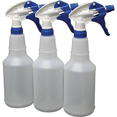 Plastic Spray Bottles, 24 oz., 3/Pack