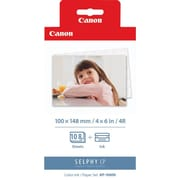 Canon® KP-108IN Black and Color Ink Cartridge & Photo Paper (3115B001)