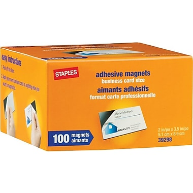 Staples® Business Card Magnets, 100-Pack