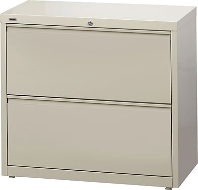 Staples Branded 2-Drawer Commercial Lateral File Cabinet, Putty (30-Inch Wide)