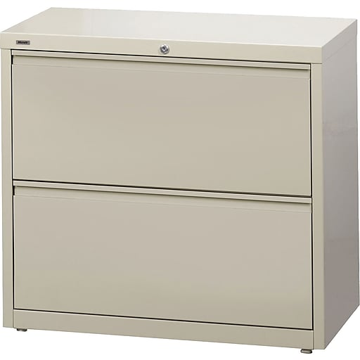 san francisco 171e3 524ce Staples Commercial 2 File Drawers Lateral File Cabinet, Locking,  Putty/Beige, Letter/Legal, 30