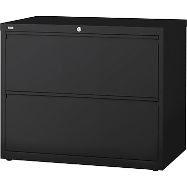 Staples 2-Drawer Commercial Lateral File Cabinet, Black (30-Inch Wide)