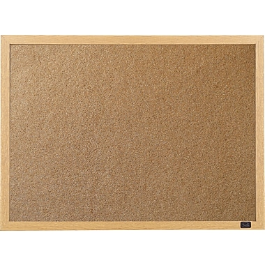Staples® Cork Board with Oak Frame, 48