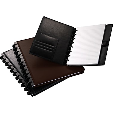 M by Staples™ Arc Customizable Leather Notebooks