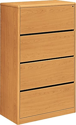 HON® 10700 Series 4 Drawer Lateral File Cabinet, Harvest, 36