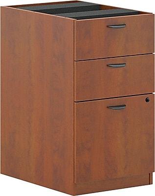 basyx by HON® BL Series 3-Drawer Pedestal Box/Box/File, Medium Cherry, 27 3/4
