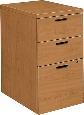 HON® 10500 Series 3-Drawer Mobile Pedestal File, Harvest