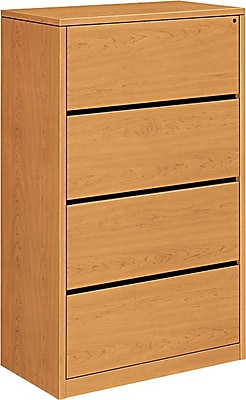 HON® 10500 Series 4-Drawer Lateral File, Harvest