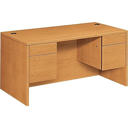 Hon 10500 Series Double Pedestal Desk Harvest 29 1 2 H X 60 W X 30 D