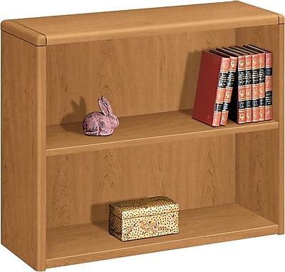 HON® 10700 Series 2-Shelf Bookcase, Harvest