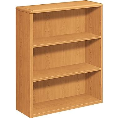 HON® 10700 Series, 3-Shelf Bookcase, Harvest