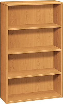 HON® 10700 Series, 4-Shelf Bookcase, Harvest